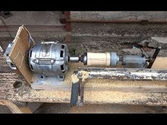токарный станок своими руками/DIY woodturning lathe - YouTube