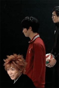 HAIKYUU STAGE PLAY → everytime Kageyama snaps at Hinata in the background it's hilarious LOL
