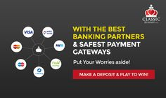 With The Best Banking Partners & Safest Payment Gateways, Put Your Worries Aside.  Make A Deposit & Play To Win!   #rummy #classicrummy #rummyonline #onlinegames #freegames #Indianrummy #paymentgateways #bankingpartners