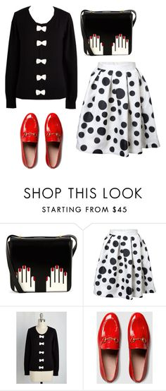 """""""renee."""" by nebulaprince ❤ liked on Polyvore featuring Lulu Guinness and Gucci"""