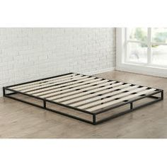 Low Profile 6-inch Metal Platform Bed Frame with Wood Mattress Support Slats - Sears