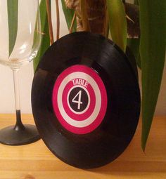 "7"" Vinyl Mod Retro Record Table Numbers"