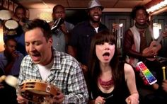 """A backstage video of late-night host Jimmy Fallon, Carly Rae Jepsen and The Roots surfaced showing them performing Jepsen's """"Call Me Maybe."""""""