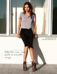 como usar saia lápis com camiseta look ousado moderno e lindo! - amanda inácio à la mode 02