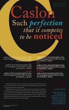 Caslon Typeface Poster on Behance