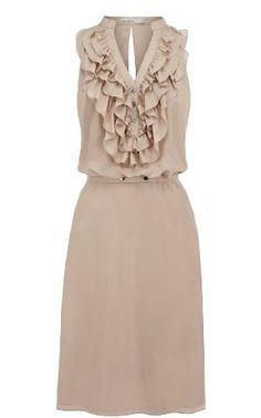 Karen Millen Silk Ruffle Dress : Sale Dresses
