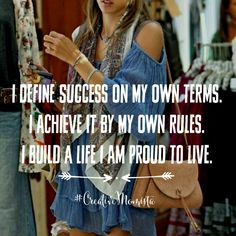 I define succesz on my own terms. I achieve it by my own rules. I build a life I am proud to live. Mompreneur. Creative Momista. Game Changer. Inspirational Quotes For Female Entrepreneurs. Brave Girls. Lady Boss. Fearless. Courageous. Unstoppable. | creativemomista.com
