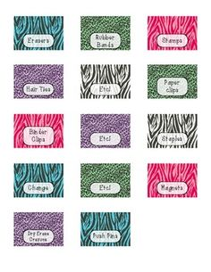 "FREE print out. These are the labels that go into the ""teacher toolbox"" that you can buy at Lowes."