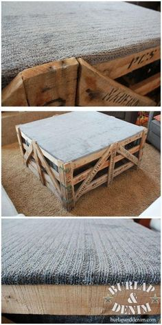 DIY Ottoman DIY Furniture Who can build this for me i have pallets