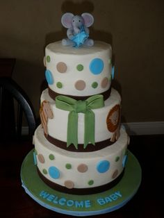 baby boy shower cake....love the polka dots
