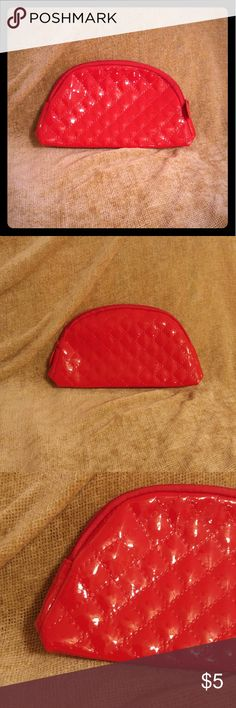 Red Quilt Pattern Makeup Bag Never used! Bags Cosmetic Bags & Cases