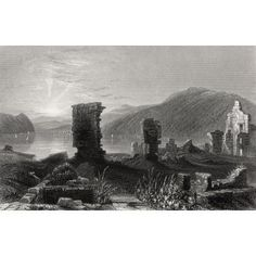 The Ruins Of Fort Ticonderoga New York United States Of America In The Early Century From The History Of England Published 1859 Canvas Art - Ken Welsh Design Pics x States In America, United States, Fort Ticonderoga, History Of England, Remote Viewing, New Art, Vivid Colors, 19th Century, Poster Prints