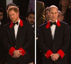 Prince Harry and Prince William wearing the Windsor Uniform at the Queens 90th birthday celebration. 5/15/2016