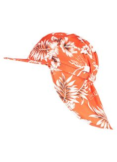 Orange Hawaiian Legionnaire Hat by Mitty James Kids Beachwear