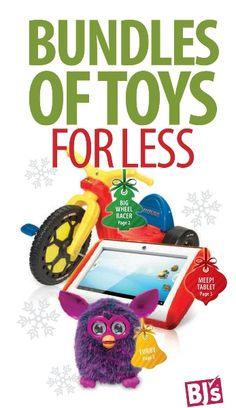 BJ's Warehouse Club Holiday Toy Catalog - 28 pages of deals!