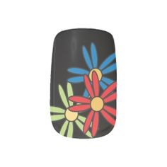 Black with colorful Flowers Design Nail Stickers.  Customize. High Quality Designs on gifts for those special people in your life. Look in my store Designs by DonnaSiggy. Copy & Paste this web address: www.zazzle.com/designsbydonnasiggy?rf=238713599140281212 Please share with your family and friends. Thank you for stopping by! Feel free to message me if you need something designs on any other product. #nails #art #zazzle