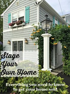 Everything you need to know to get your home sold. Stage it yourself with these tips.