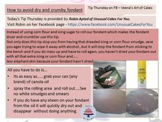 How to avoid dry and crumby fondant