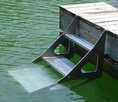 Dog Stairs for Dock and Boats. Need this for the lake house! Lake Dock, Lake Beach, Boat Dock, Dog Stairs, Haus Am See, Lakeside Living, Lake Cabins, Seen, Lake Cottage