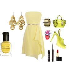 yellow, created by #drue-young on #polyvore. #fashion #style Reed Krakoff Lord & Berry