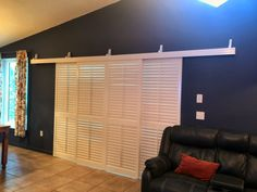 Rolling Shutters For Glass Sliding Doors Sliding Glass Door Shutters, Sliding Door Window Treatments, Sliding Doors, Glass Doors, Barn Doors, Inside Doors, Shutters Inside, Door Coverings