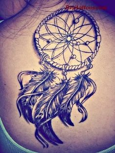 Attractive Dream Catcher Tattoos On Back