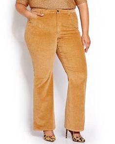 Pantalon en velours côtelé mi-évasé L&L