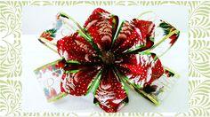 Flores y Moños de Navidad Christmas flowers and ribbons