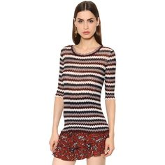 Isabel Marant Étoile Women Zigzag Striped Cotton Sweater ($245) ❤ liked on Polyvore featuring tops, sweaters, multicolor, multi color tops, multicolor sweater, etoile isabel marant sweater, colorful sweaters and multi colored sweater