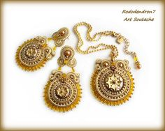 Soutache wedding earrings elegant unusual and от rododendron7