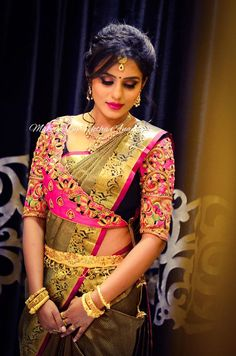 Get Inspired For Traditional Blouse Designs Pattu Saree Saree Jacket Designs, Choli Blouse Design, Saree Blouse Neck Designs, Fancy Blouse Designs, Bridal Blouse Designs, Traditional Blouse Designs, Organizer Box, Stylish Blouse Design, Designer Blouse Patterns