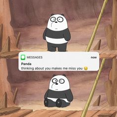 cartoon love icelove think crush conversation text texting lovely cute goels missing cry amour relationshipgoals😍 relation Cute Panda Wallpaper, Cartoon Wallpaper Iphone, Bear Wallpaper, Cute Disney Wallpaper, Galaxy Wallpaper, We Bare Bears Wallpapers, Panda Wallpapers, Cute Cartoon Wallpapers, Ice Bear We Bare Bears