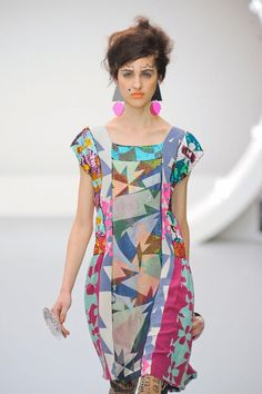 Louise Gray S/S '13 interesting how the vertical lines make this work