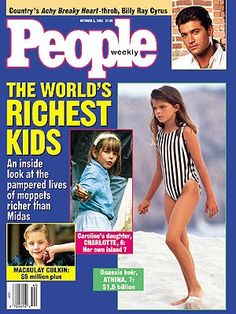 photo | Athina Roussel Cover, Moppets: Kid Stars, Athina Onassis Roussel, Billy Ray Cyrus, Charlotte Casiraghi, Macaulay Culkin