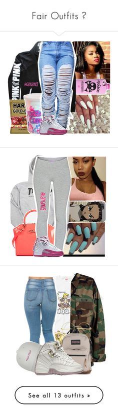"""Fair Outfits "" by shamyadanyel ❤ liked on Polyvore featuring Valfré, Victoria's Secret, Cotton Candy, NIKE, Ted Baker, TNA, Modström, Rolex, JanSport and Puma"