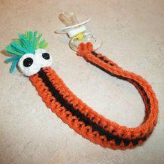 Crochet Halloween Pacifier Clip by gavandjack on Etsy
