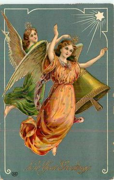 """Happy New Year Postcard  c1911. """"New Year Greetings""""."""