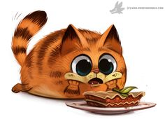 Day 802# Garfeild's First Lasagna by Cryptid-Creations on DeviantArt ★ Find more at http://www.pinterest.com/competing/