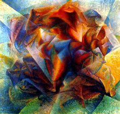 Dynamism of a Soccer Player  Artista: Umberto Boccioni Tamaño: 1,93 m x 2,01 m Período: Futurismo Tema: Futbolista Género: Arte abstracto Técnica: Pintura al aceite