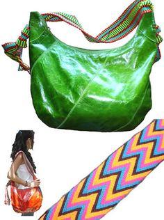Bolsos y Carteras en Cuero con Tejidos Wayuu - Comprar Bolsos exóticos, Venta al por Mayor de Carteras en Cuero Hechas a Mano - Artículos de Marroquineria Colombia - Leather Purses  Bags Online store