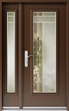 With the two tone glass design by Vitre-Art. This door glass would compliment almost any door colour. Verre Design, Glass Design, Door Design, Room Doors, Entry Doors, Entrance, Entryway, Frosted Glass Door, Glass Doors