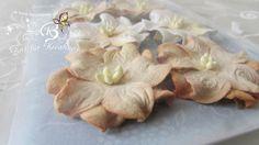 6+Blüten+aus+Maulbeerpapier+ca.3,5cm,+beige+von+Zeit+für+Kreatives+auf+DaWanda.com