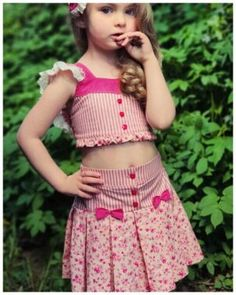 Frocks For Girls, Girls Dresses, Girls Frock Design, Cute Outfits For Kids, Girl Gifs, Vintage Sewing Patterns, Little Girls, Girls Videos, Angels