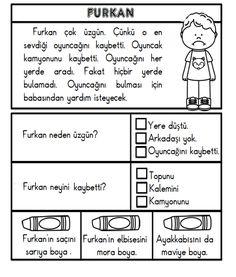 Alıntı Turkish Lessons, Learn Turkish, Turkish Language, Reading Passages, Activity Games, Grade 1, Preschool Activities, Homeschool, Drama