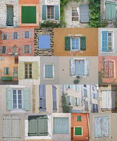 Tijdens mijn vakantie in de Provence, zoveel verschillende luiken.