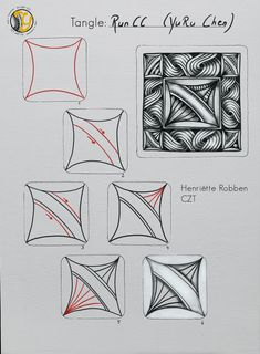 Easy Drawing Steps, Step By Step Drawing, Easy Drawings, Doodles Zentangles, Zentangle Patterns, Henna, Doodle Art Designs, Zen Doodle, Hobbies And Crafts