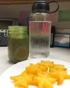 Today's lunch: organic star fruit with a homemade all organic microgreen vegan protein smoothie with lots and lots of water So thankful that my beautiful hygienist @bluelotus2121 has helped me long every step of my fitness/health journey. So many more changes to come! Big thank you to @theorganicman for making my smoothie! #organic #vegan #banana #strawberry #avocodo #protein #greensmoothie #microgreens #healthyliving #fitspo by lilyyyvazquez