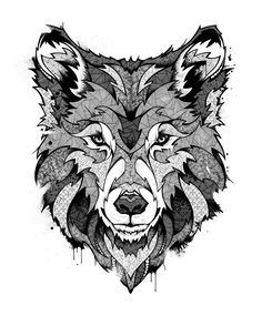 NAF NAF Paris // Wolves by Andreas Preis, via Behance
