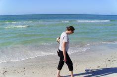 Walking along the beach. Gulf of Mexico
