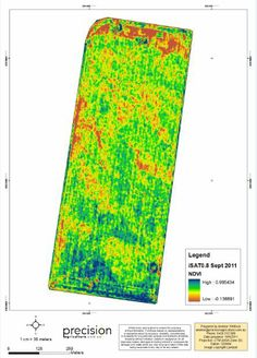 Precision land elevation mapping combined with yield rates for the same area give farmers an idea of amounts of fertilizers to add to the property.  It cuts down on over fertilizing and also where drainage is required.